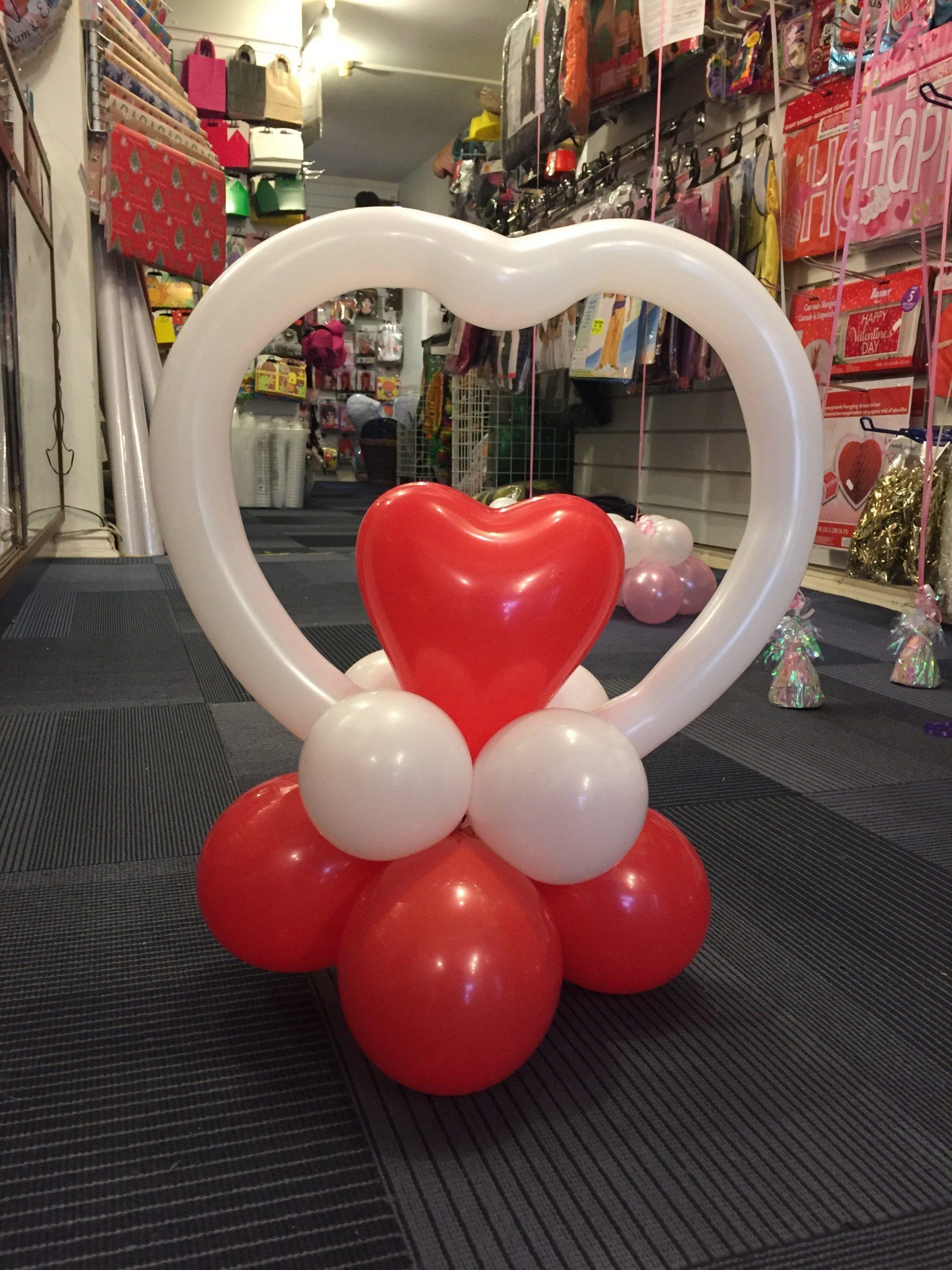 Valentine's Day Balloon Table Decoration