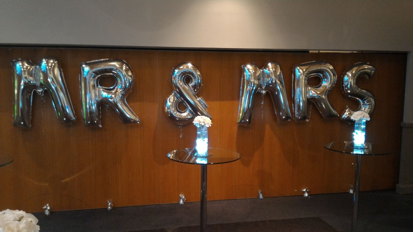 Large Balloon Letters Mr & Mrs