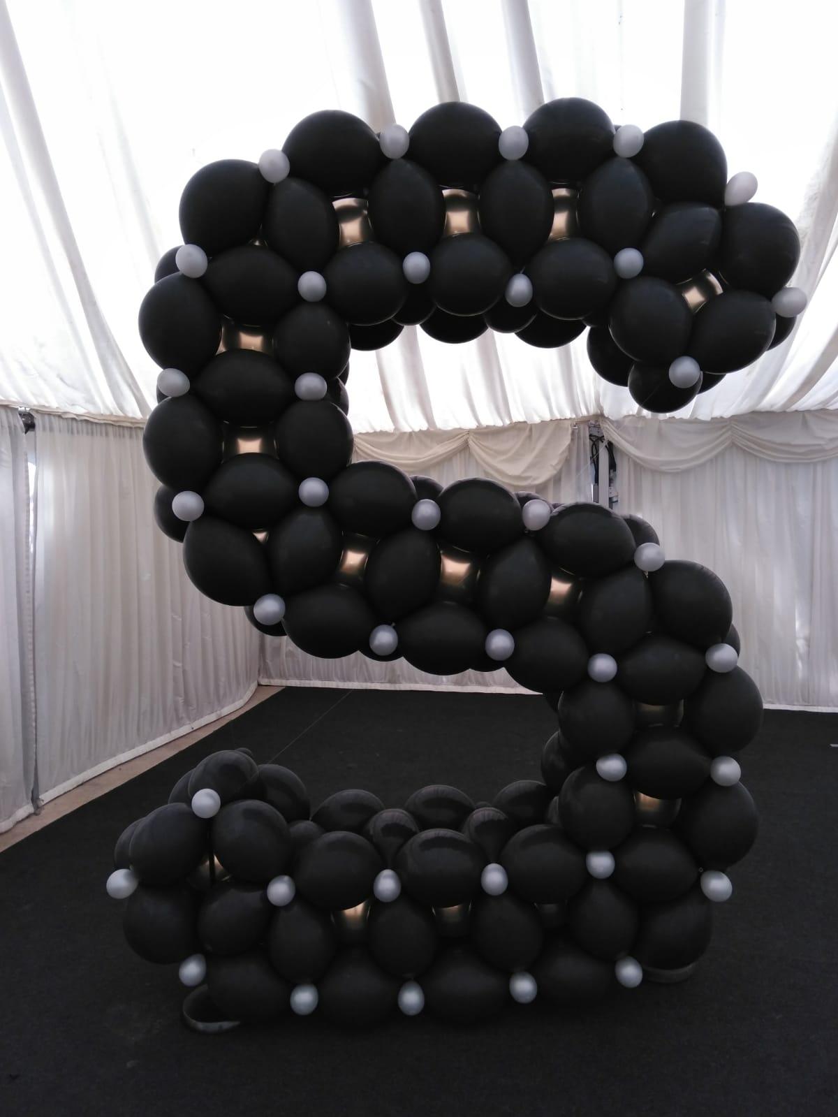 8ft balloon letter S