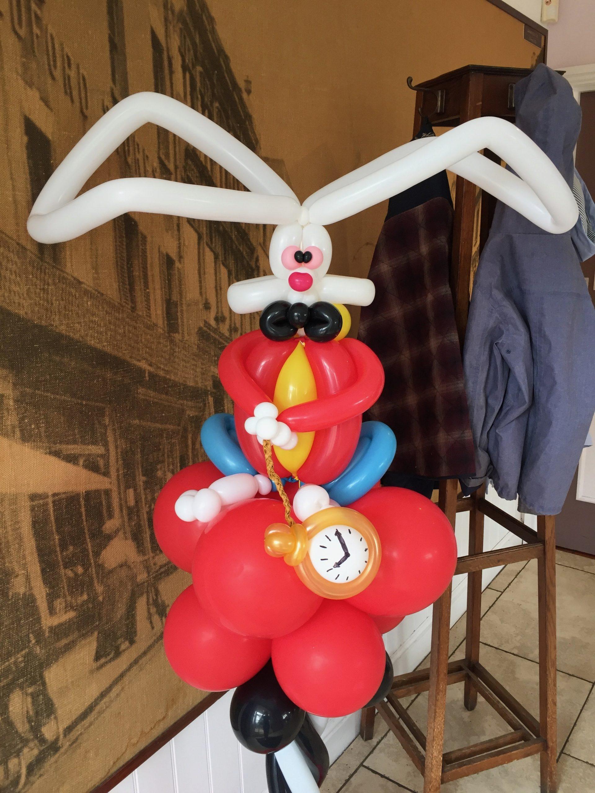 Balloon white rabbit