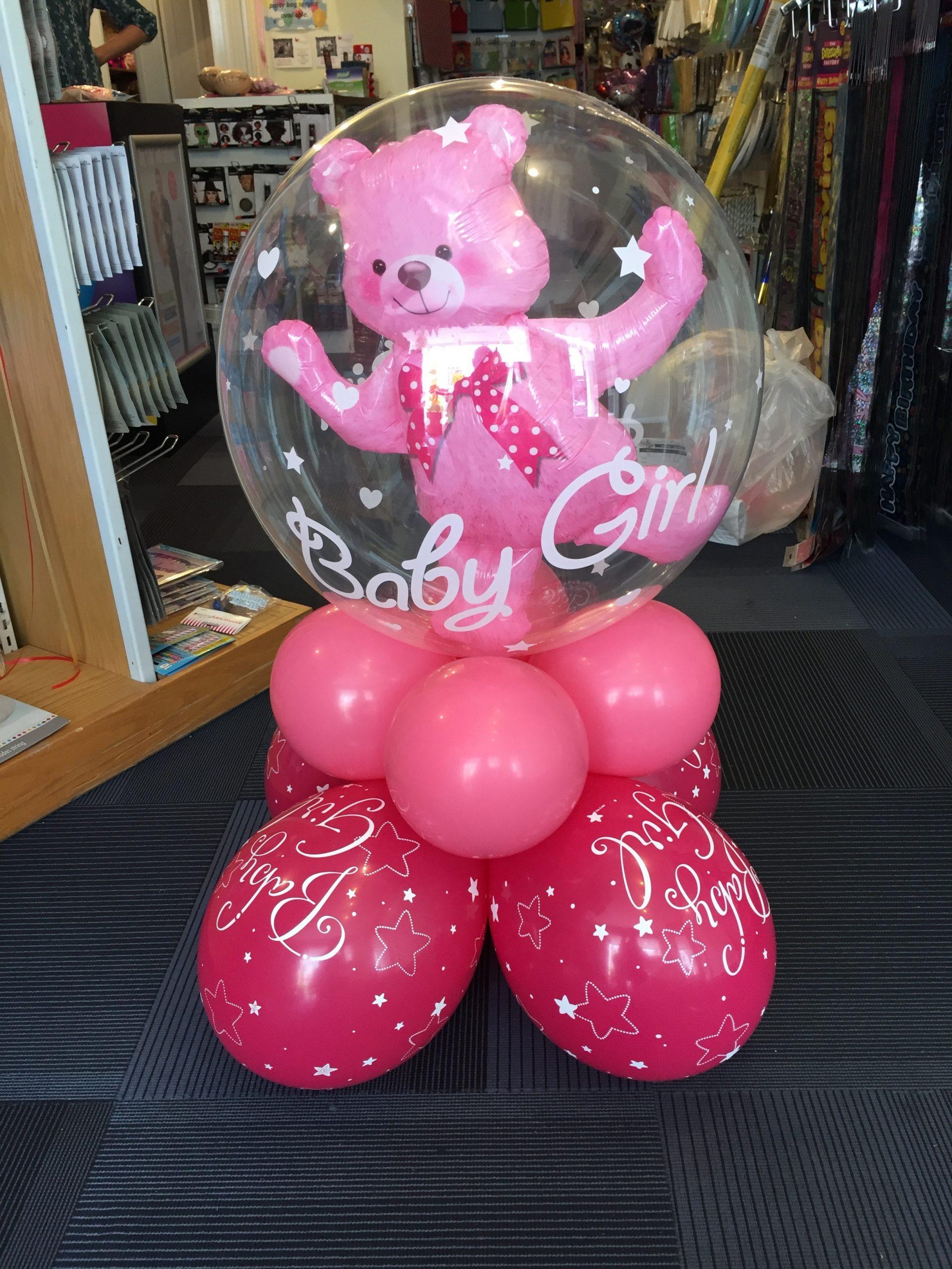 Double bubble baby girl super decoration